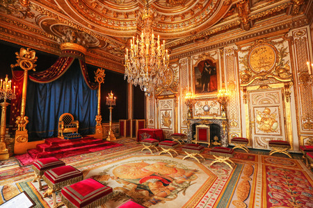 riches: Paris, France, Versailles palace room interior