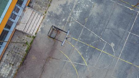 school playground: Aerial shot of school playground