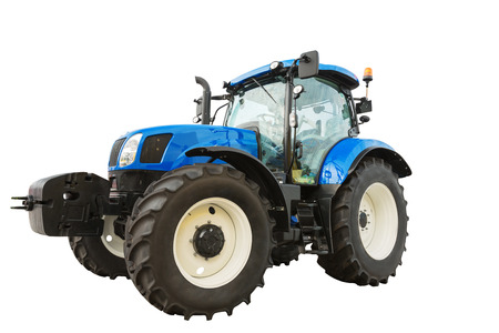 New modern agricultural tractor isolated on white background Stock Photo