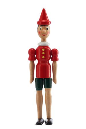 pinocchio: Pinocchio Toy Statue isolated on white background