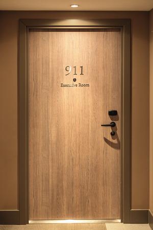 executive apartment: Hotel door number, close up image Stock Photo