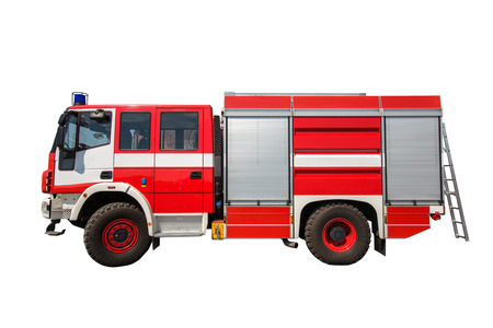 Fire truck isolated on a white background