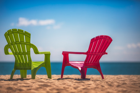 cana: Two deckchairs on the beach