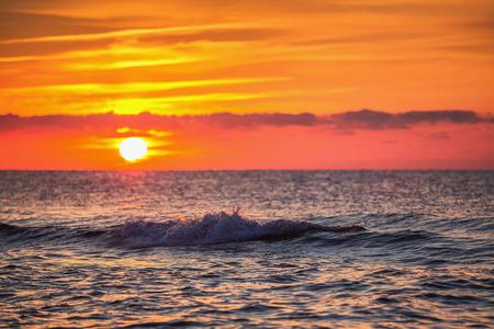 cana: Beautiful cloudscape over the sea, sunrise shot Stock Photo