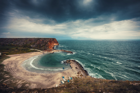 seashores: Bolata beach Bulgaria. Famous bay near Cape Kaliakra and Albena