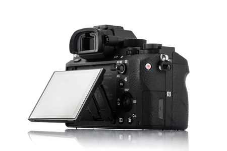 Varna, Bulgaria - February 02,2017: Image of Alpha a7R II Mirrorless Digital Camera with full-frame 42.4-megapixel Exmor R back-illuminated structure CMOS sensor Editorial