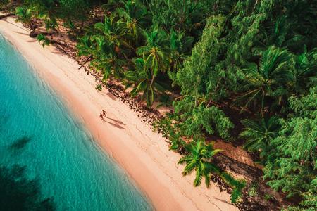 Aerial view of tropical island beach, Dominican Republic Foto de archivo