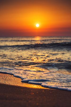 palma: Beautiful cloudscape over the sea, sunrise shot  Stock Photo