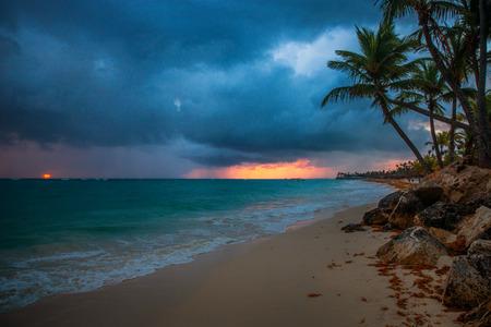 Praia tropical em Punta Cana, República Dominicana