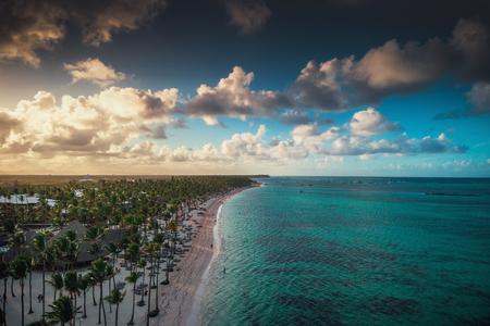 Aerial view of caribbean resort, Bavaro, Dominican Republic.