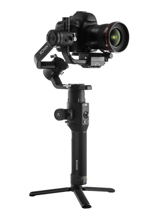 Varna, Bulgaria - July 11 ,2018: DJI Ronin-S is Three-Axis Motorized Gimbal Stabilizer for DSLR or Mirrorless Cameras manufactured by DJI company ,isolated on white.