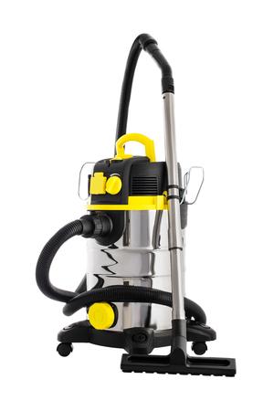 Aspirador aislado en blanco. Máquina de limpieza profesional para suelos secos y húmedos