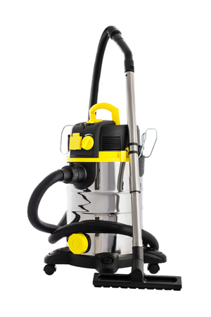 Vacuum cleaner isolated on white. Professional cleaning machine for wet and dry floors
