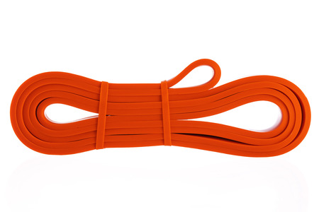 Exercise rubber band for fitness and yoga isolated