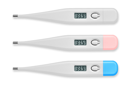 Thermometer digital isolated on white background.