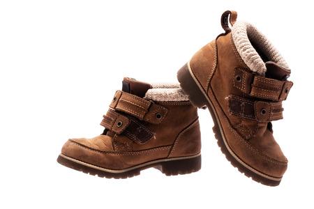 Zapatos de bebé para niños. Calzado ortopédico de piel. Foto de archivo