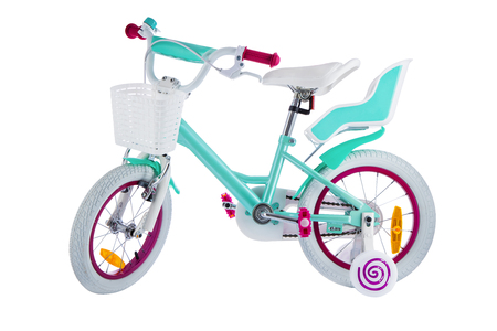 Bicycle for kids with clipping path isolated on white background.