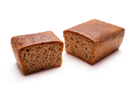 Whole Spelt Bread isolated on white background.