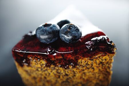 Cake with berry fruits, chia cereals and nuts isolated Reklamní fotografie