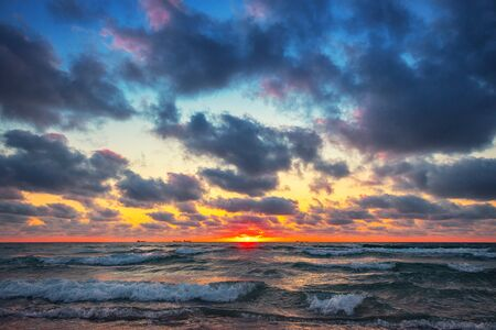 Beautiful cloudscape over the sea, sunrise shot Reklamní fotografie