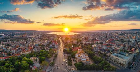 Aerial view of The Cathedral of the Assumption in Varna Standard-Bild