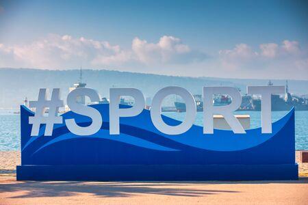 Seascape view of Varna, Bulgaria european city of sports.