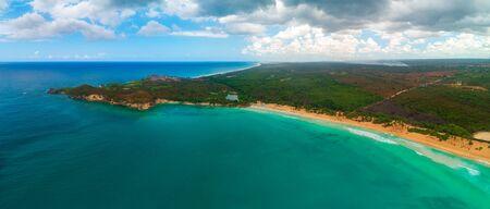 Aerial view of tropical beach. Macao beach, Dominican republic