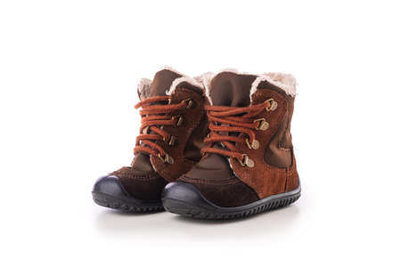 Baby kids casual shoes. Winter boots or sneakers. Reklamní fotografie