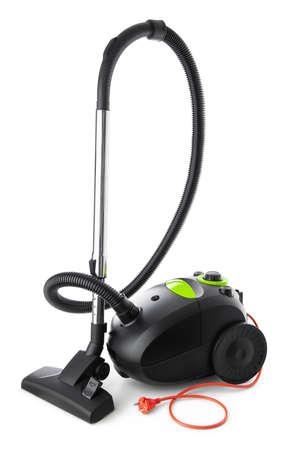Vacuum cleaner black modern design isolated on white background Reklamní fotografie