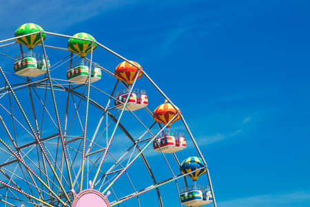 Ferris Wheel with Blue Sky and clouds Reklamní fotografie