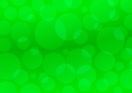 Green circles. Abstract green background Vector