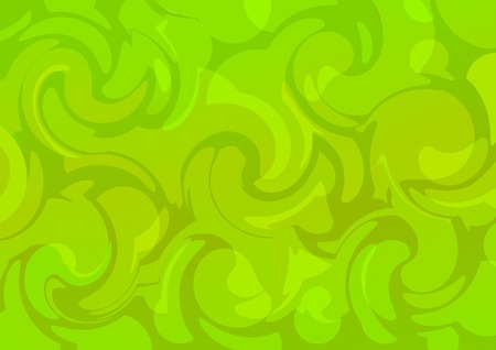 Vector acid. Green curves. Abstract background Vector