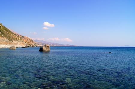 The bay on the south coast of Crete photo