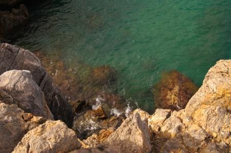 Green water is the Mediterranean Sea in Crete photo
