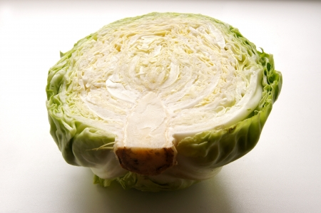 half of the cabbage, cut texture photo