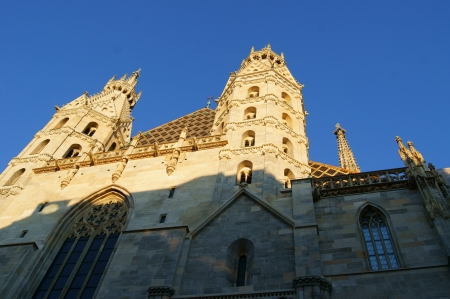 catholical: Cathedral vein - St. Stephens Cathedral (the evening of the facade)