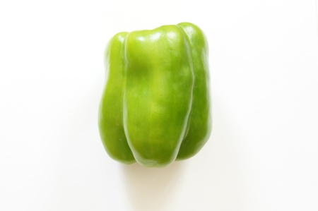 Ripe and juicy green peppers photo
