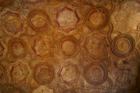 Stucco ceiling in the public baths of ancient Pompeii Stock Photo - 14780525