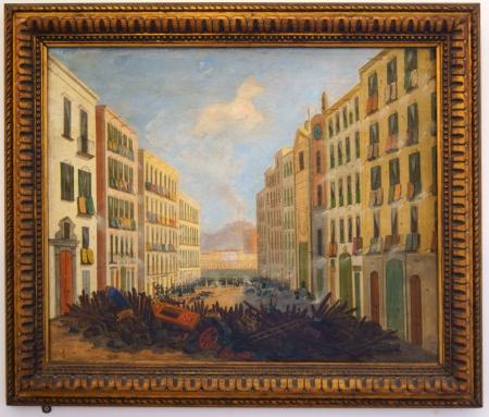 Ingots Painting The barrikada at Santa Brigida