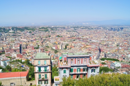 Panorama of the city of Naples  top view  photo