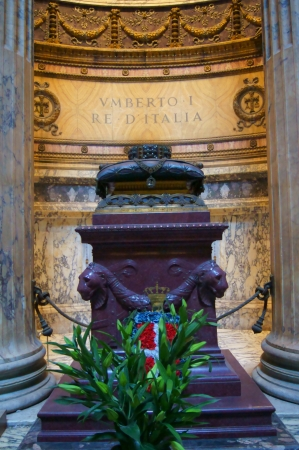 The grave and tombstone of King Umberto of Italy I in the Roman pantheon Stock Photo - 14816786