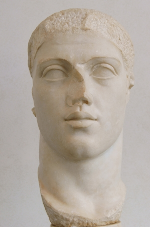 Museum exhibit - head Gordianus III
