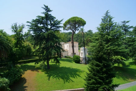 Vatican Gardens from the window of the museum