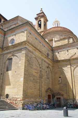 eponymous: Florentine church of San Lorenzo is located in the eponymous town square Stock Photo