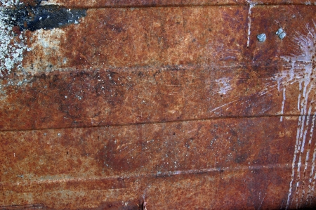 Metal wall with rust, which is stained with paint photo