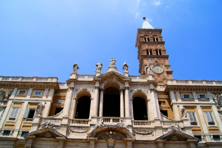 The Roman church of Santa Maria Maggiore Stock Photo