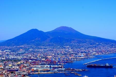 Panorama of Naples and Mount Vesuvius