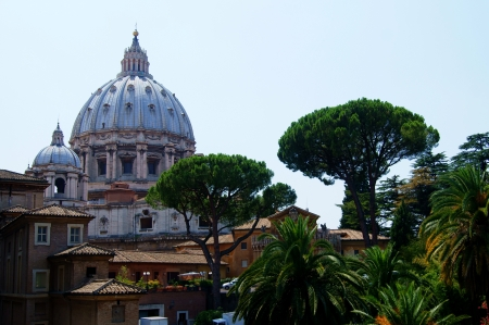 st  peter s square: View of the dome of St  Peter