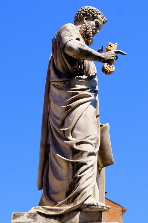 st  peter s square: A statue of the Apostle Peter with the keys in the hands of St  Peter