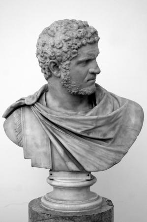 adulation: Mramarny bust of the Roman emperor Caracalla